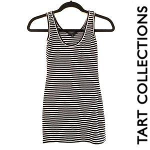 TART long black and white striped tank